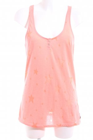Maison Scotch Tanktop pink-hellorange Allover-Druck Casual-Look