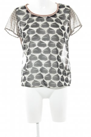 Maison Scotch Transparenz-Bluse abstraktes Muster Casual-Look