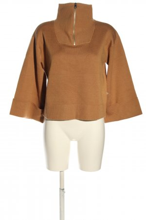 Maison Scotch Troyer braun Zopfmuster Casual-Look