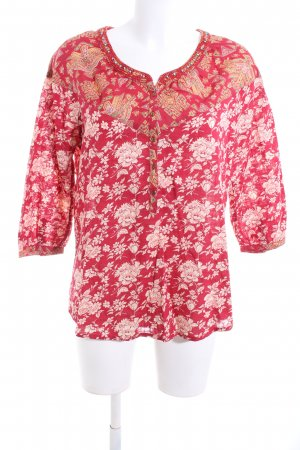 Maison Scotch Tunikabluse rot Blumenmuster Casual-Look