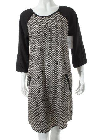 Maison Scotch Tunikakleid weiß-schwarz abstraktes Muster Casual-Look