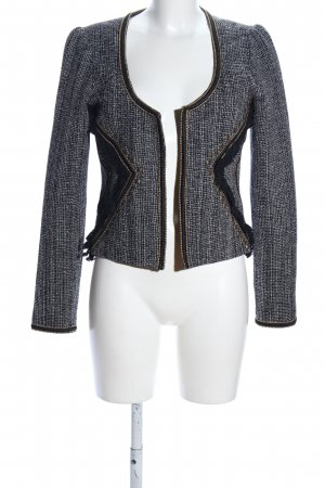 Maison Scotch Tweedblazer schwarz-hellgrau Webmuster Business-Look