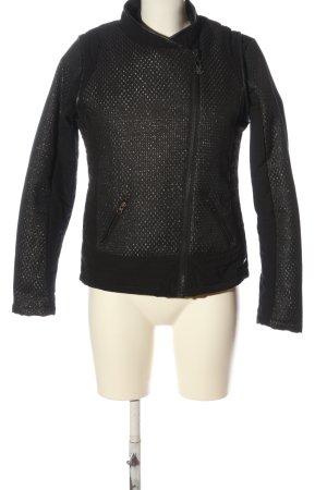 Maison Scotch Übergangsjacke schwarz-silberfarben abstraktes Muster Casual-Look