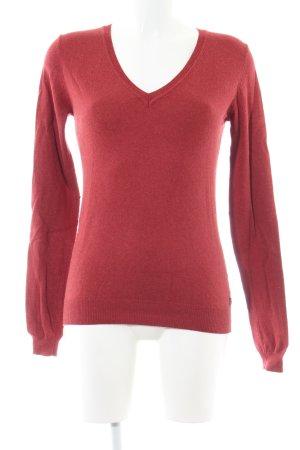 Maison Scotch V-Ausschnitt-Pullover rot Casual-Look