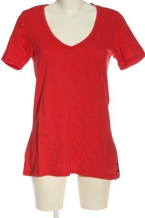 Maison Scotch V-Ausschnitt-Shirt rot Casual-Look