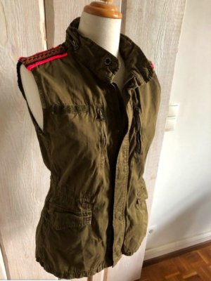 Maison Scotch Biker Vest salmon-olive green