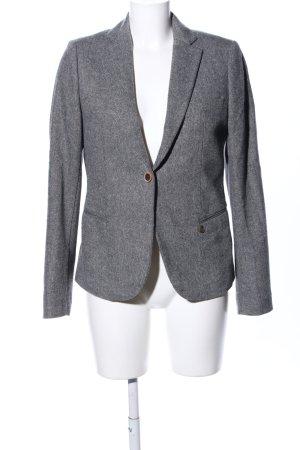 Maison Scotch Blazer in lana grigio chiaro puntinato stile casual