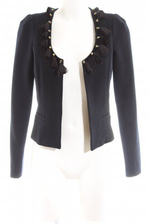 Maison Scotch Woll-Blazer blau Business-Look
