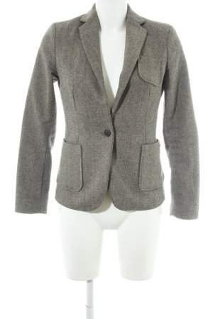 Maison Scotch Woll-Blazer grau-schwarz abstraktes Muster Business-Look
