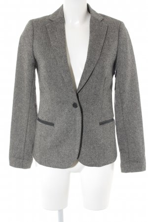 Maison Scotch Woll-Blazer schwarz-creme Business-Look
