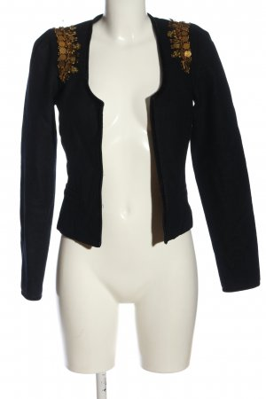 Maison Scotch Woll-Blazer schwarz-goldfarben Casual-Look