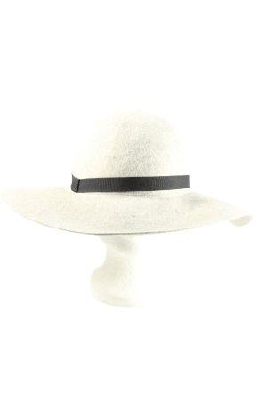 Maison Scotch Sombrero de lana blanco-negro look casual