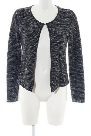 Maison Scotch Wolljacke schwarz-weiß meliert Casual-Look