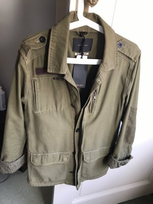 Maison Scotch Military Jacket khaki-green grey cotton