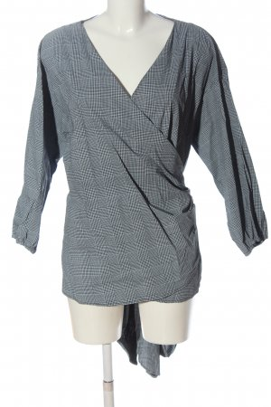 Maite Kelly Wraparound Blouse black-white check pattern casual look