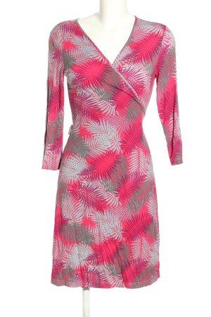 Maite Kelly x bonprix Wraparound pink-light grey animal pattern casual look