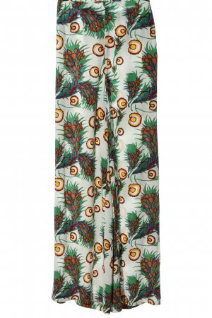 Maje Baggy Pants abstract pattern casual look