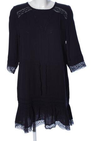 Maje Blusenkleid schwarz grafisches Muster Casual-Look