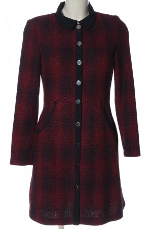 Maje Floor-Lenght Coat red-black check pattern casual look