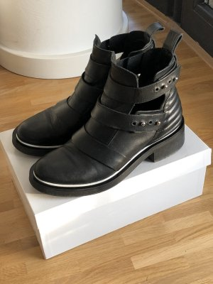 Maje Ankle Boots black-white leather