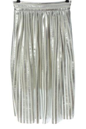 Maje Jupe à plis argenté style décontracté