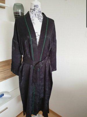 Maje Kimono noir-vert forêt viscose
