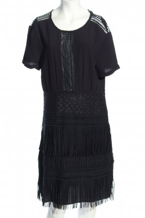 Maje Fringed Dress black casual look