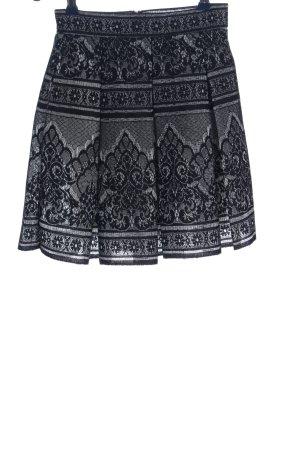 Maje Flared Skirt light grey-black allover print elegant