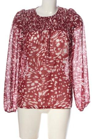 Maje Camicia blusa rosso-bianco motivo astratto elegante