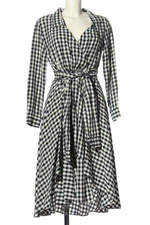 Maje Hemdblusenkleid schwarz-weiß Allover-Druck Casual-Look