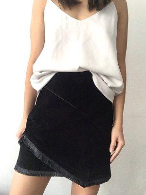 Maje Leather Skirt black suede
