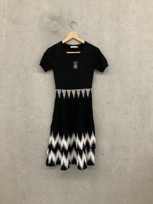 Maje Vestido línea A negro Lana