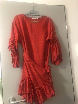 Maje Mini Dress red-brick red