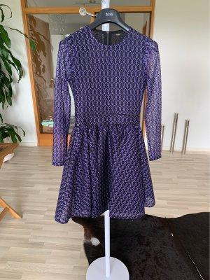 Maje Longsleeve Dress black-purple