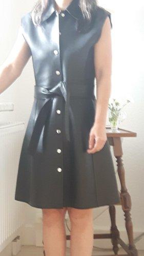 Maje Kleid Gr.36 Leder schwarz