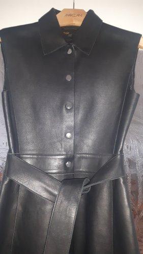 Maje Skórzana sukienka czarny