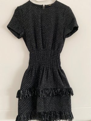 Maje Fringed Dress black