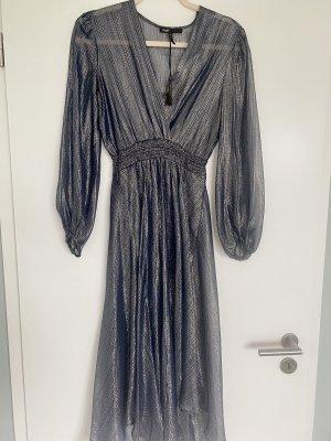 Maje Midi Dress dark blue-silver-colored