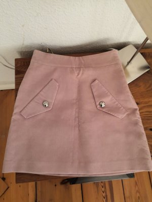 Maje Mini rok stoffig roze-rosé
