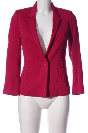 Maje Korte blazer rood gestreept patroon zakelijke stijl