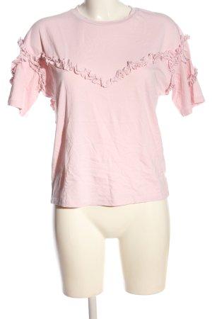 Maje Kurzarm-Bluse pink Casual-Look