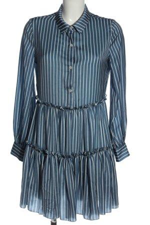 Maje Langarmkleid blau-weiß Streifenmuster Business-Look