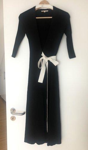 Maje langes Kleid Strickkleid Wickelkleid Gr. 34