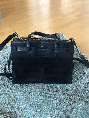 Maje Shoulder Bag black leather
