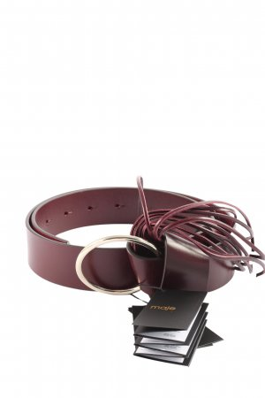 Maje Faux Leather Belt pink casual look