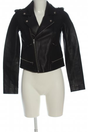 Maje Leather Jacket black casual look
