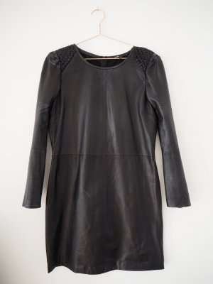 Maje Leather Dress black leather