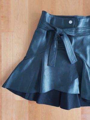 Maje Falda de cuero negro Cuero