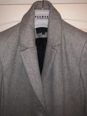 Maje Abrigo de lana color plata