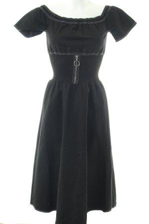 Maje Midi-jurk zwart extravagante stijl